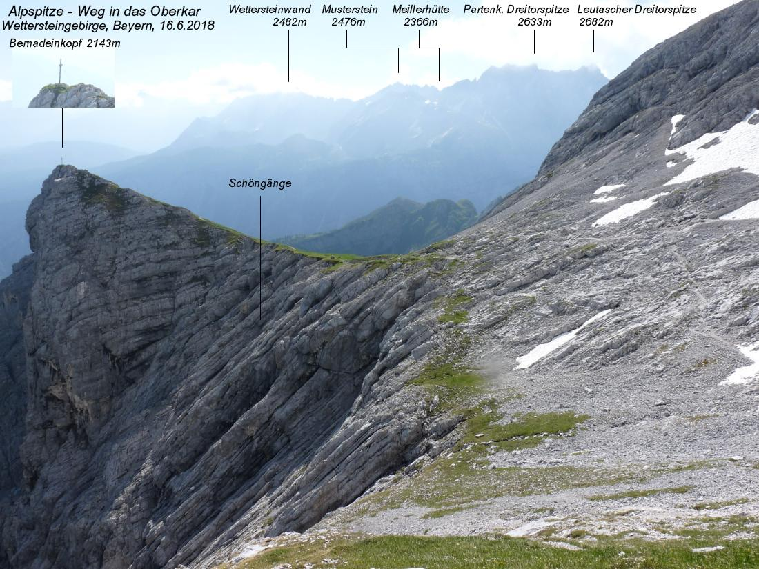 Klettersteig Queenstown : Alpspitze 2628m nordwandsteig bernadeinkopf 2143m schöngänge