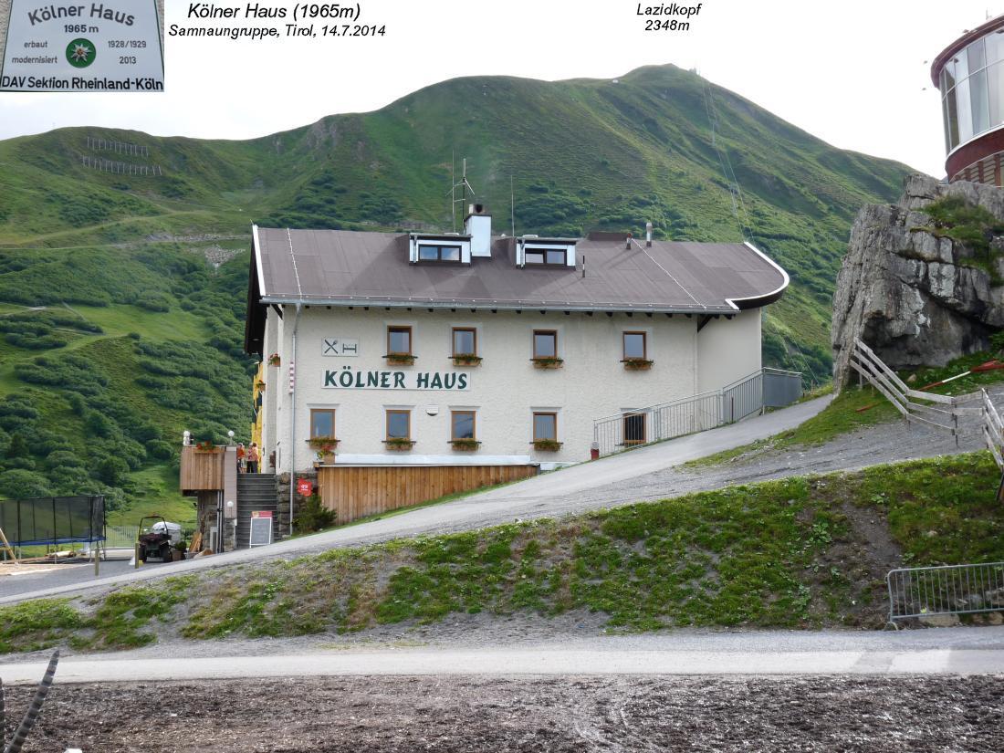 Furgler 3004m Kolner Haus 1965m Samnaungruppe Tirol