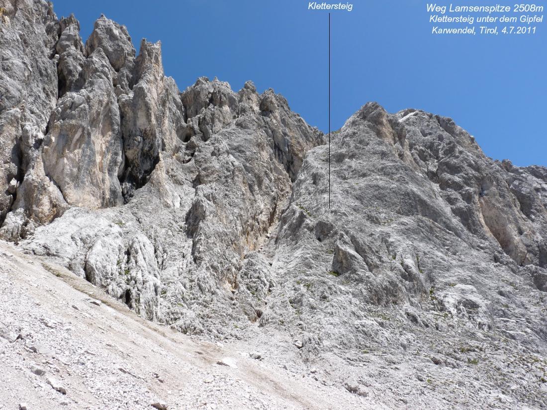 Klettersteig Lamsenspitze : Lamsenspitze m lamsenjochhütte karwendelgebirge tirol