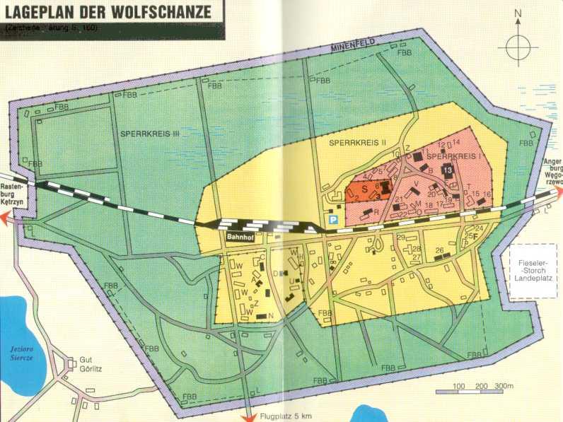 Wolfsschanze Karte.Im Fuhrerhauptquartier Fhq Wolfsschanze Masuren Polen
