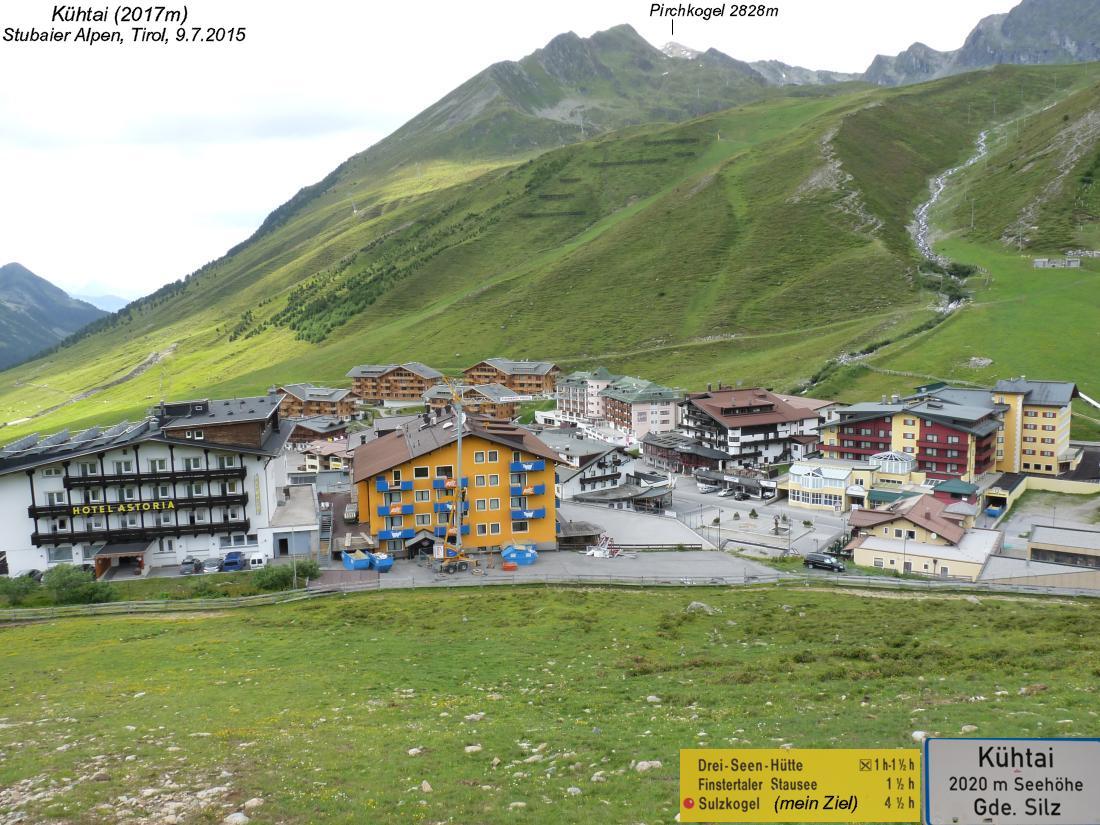 Sulzkogel 3016m Speicher Finstertal 2300m Stubaier Alpen Tirol