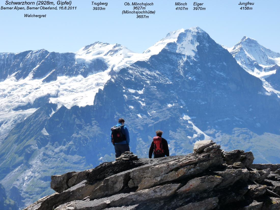 Klettersteig Schwarzhorn : Schwarzhorn bei grindelwald 2928m tyrolienne first flieger