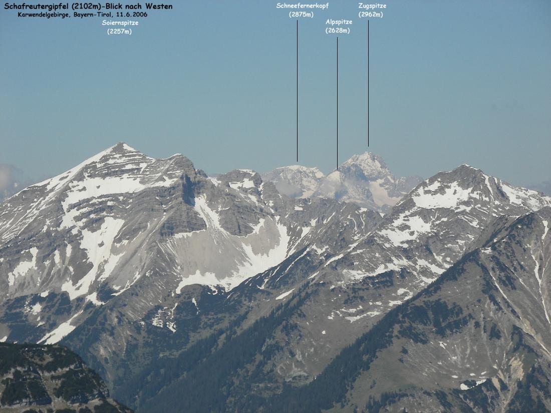 Zugspitze Panorama Blick zur Zugspitze