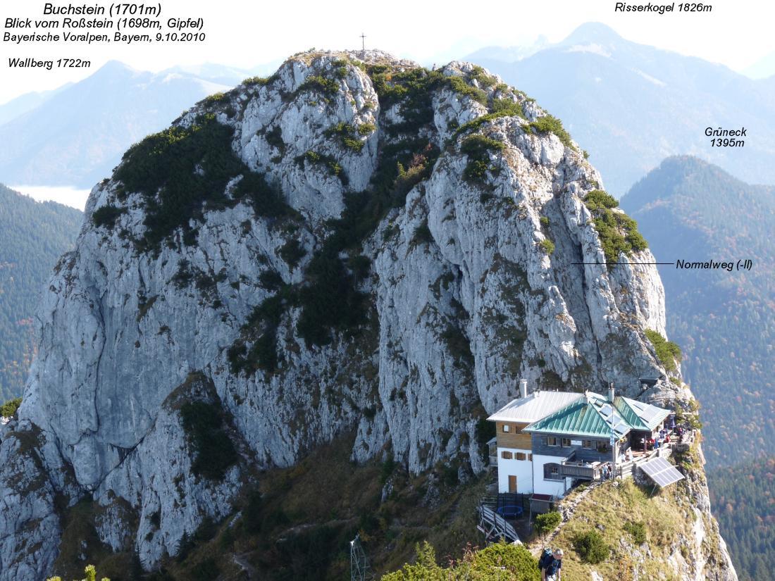 Klettersteig Buchstein : Tegernseer hütte m buchstein roßstein