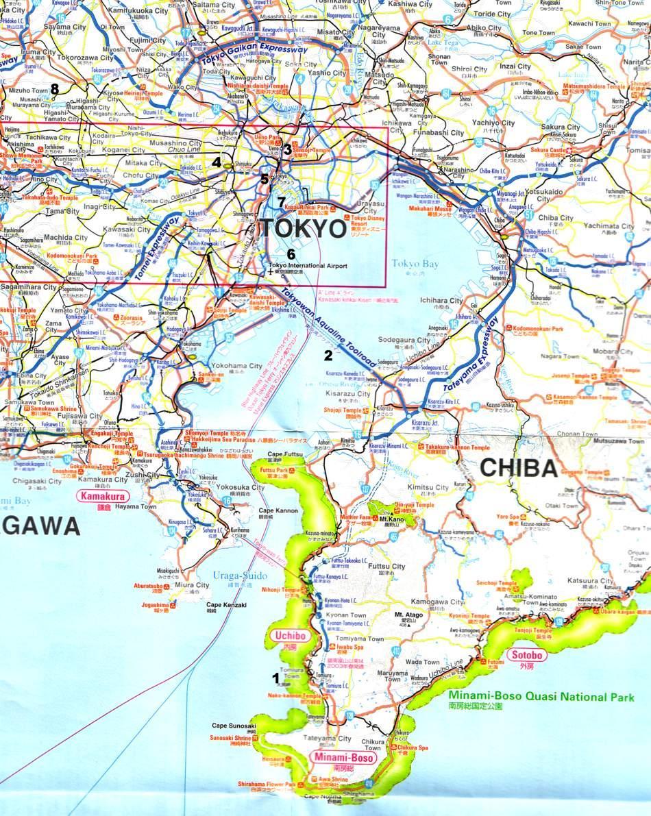 tokio karte Die japanische Hauptstadt Tokyo (1), Autorundreise Japan 2004