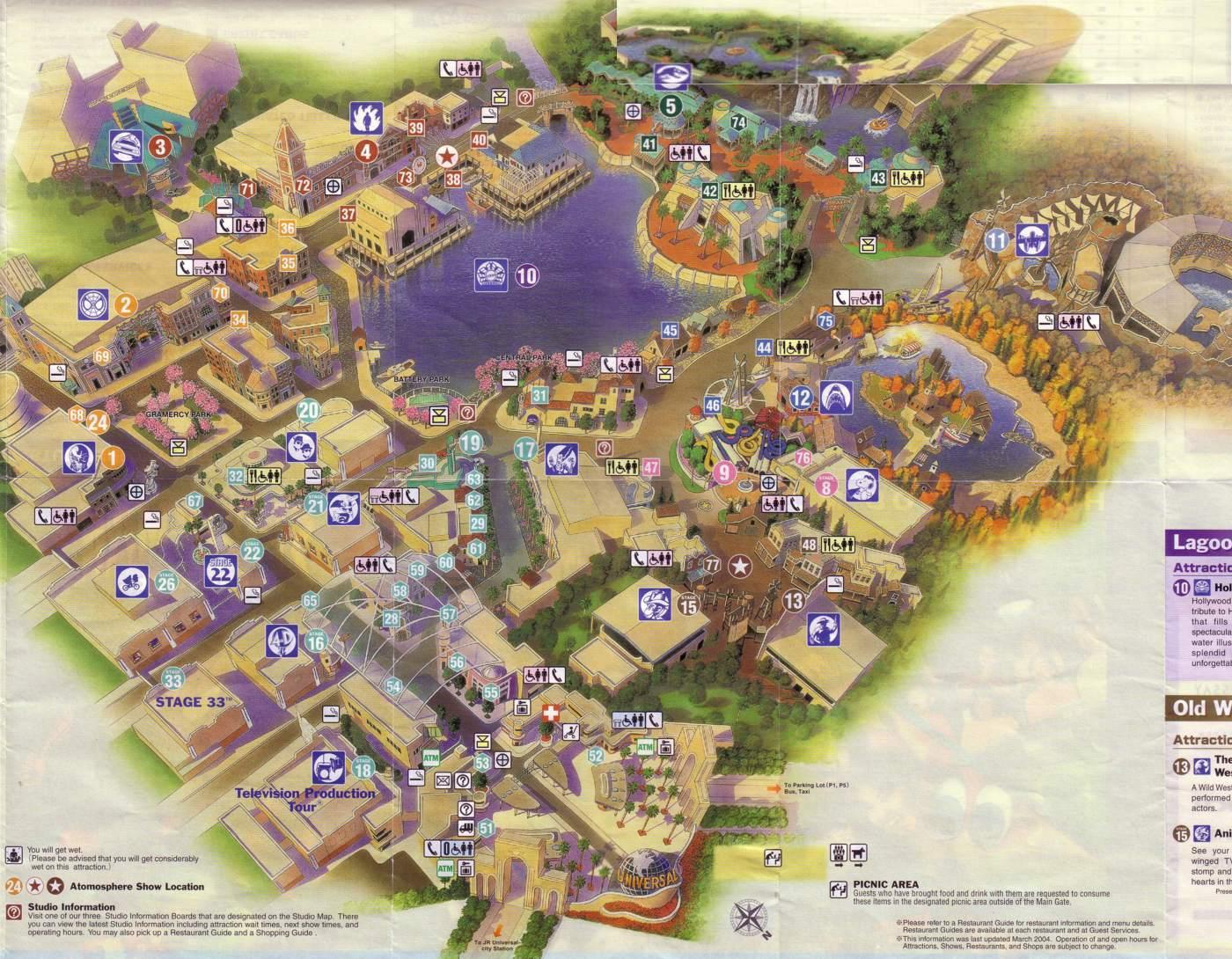 [WDW Orlando et Universal Studios] Du 31 août au 16 septembre 2010 + 4 Vidéos TR + liens du DVD de promotion WDW 2010 + Parenthèse Japonaise (Universal Studios Osaka) - Page 2 USJ-map