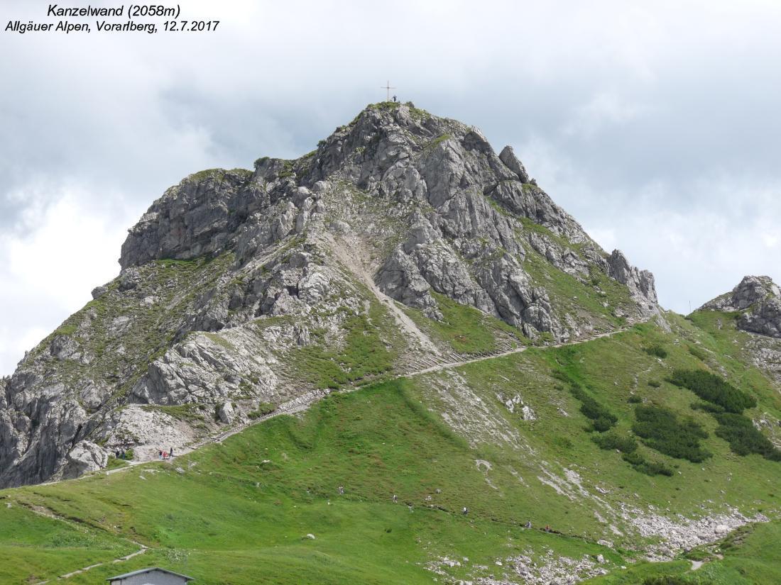 Klettersteig Vorarlberg : Walser hammerspitze 2170m kanzelwand 2058m allgäuer alpen