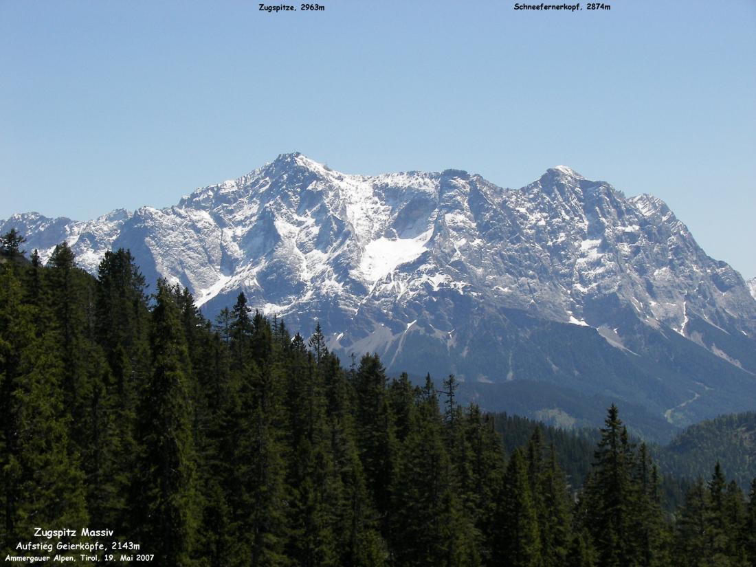 Zugspitze Panorama Schneefernerkopf