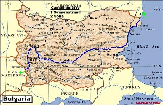 Bulgarien Karte Goldstrand Sonnenstrand Goudenelftal