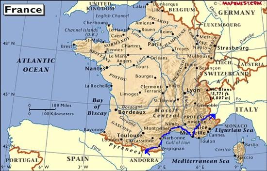 Camargue Karte.Fahrt Durch Südfrankreich Marseille Camargue Motorradtour