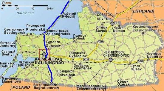 Königsberg Kaliningrad Karte.Fahrt Durch Die Russische Enklave Kaliningrad Auf Meiner